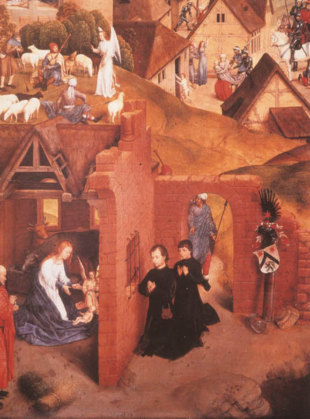 "Figure III. Hans Memling: ""The Seven Joys of the Virgin"". 1480. Tempera on panel, altarpiece from the Church of Our Lady, Brügge."
