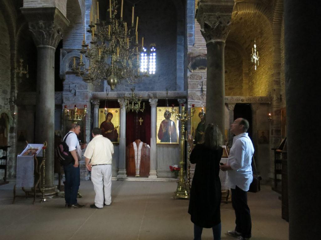 In the church at Hosios Loukas (photo Ewa Klekot)