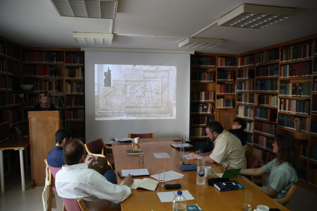 Meeting at the Norwegian Institute (photo Justin Kroesen)